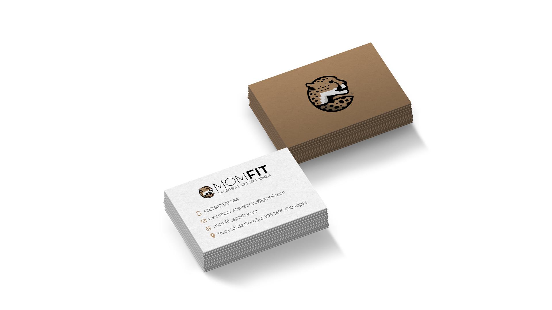 Sports Brand Design MOMFIT Business cards
