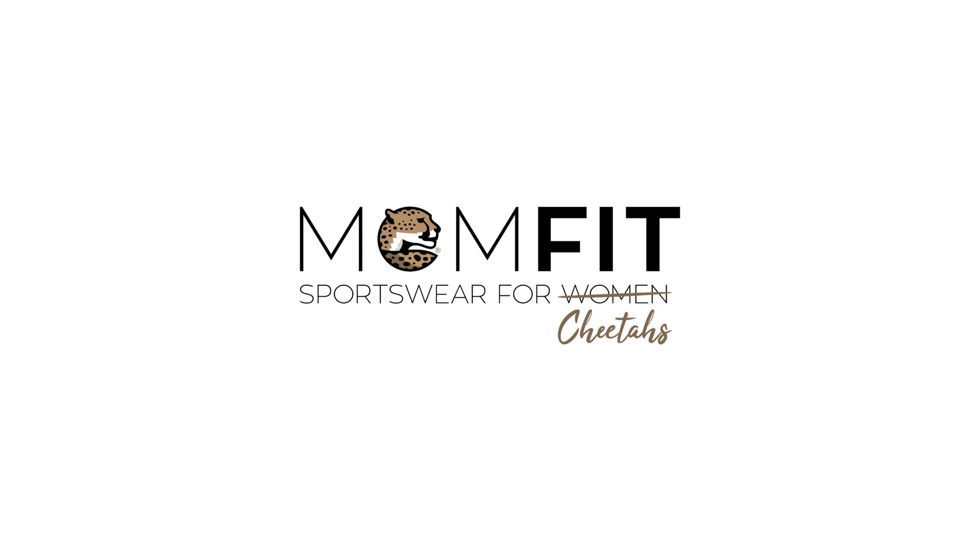 Sports Brand Design MOMFIT Sportswear for Cheetahs Identity