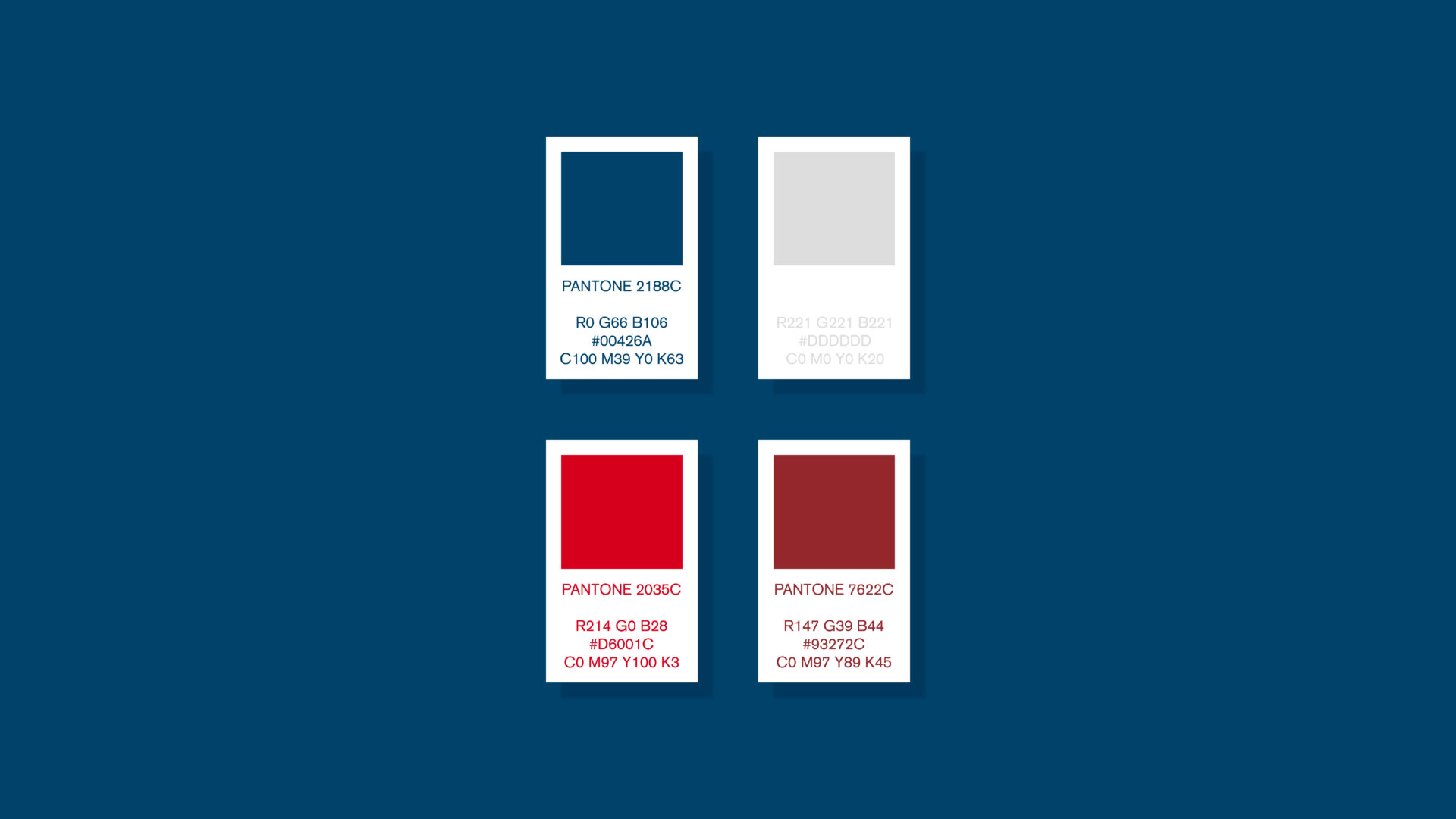 Wellness Brand Design color palette for the new brand identity after rebranding