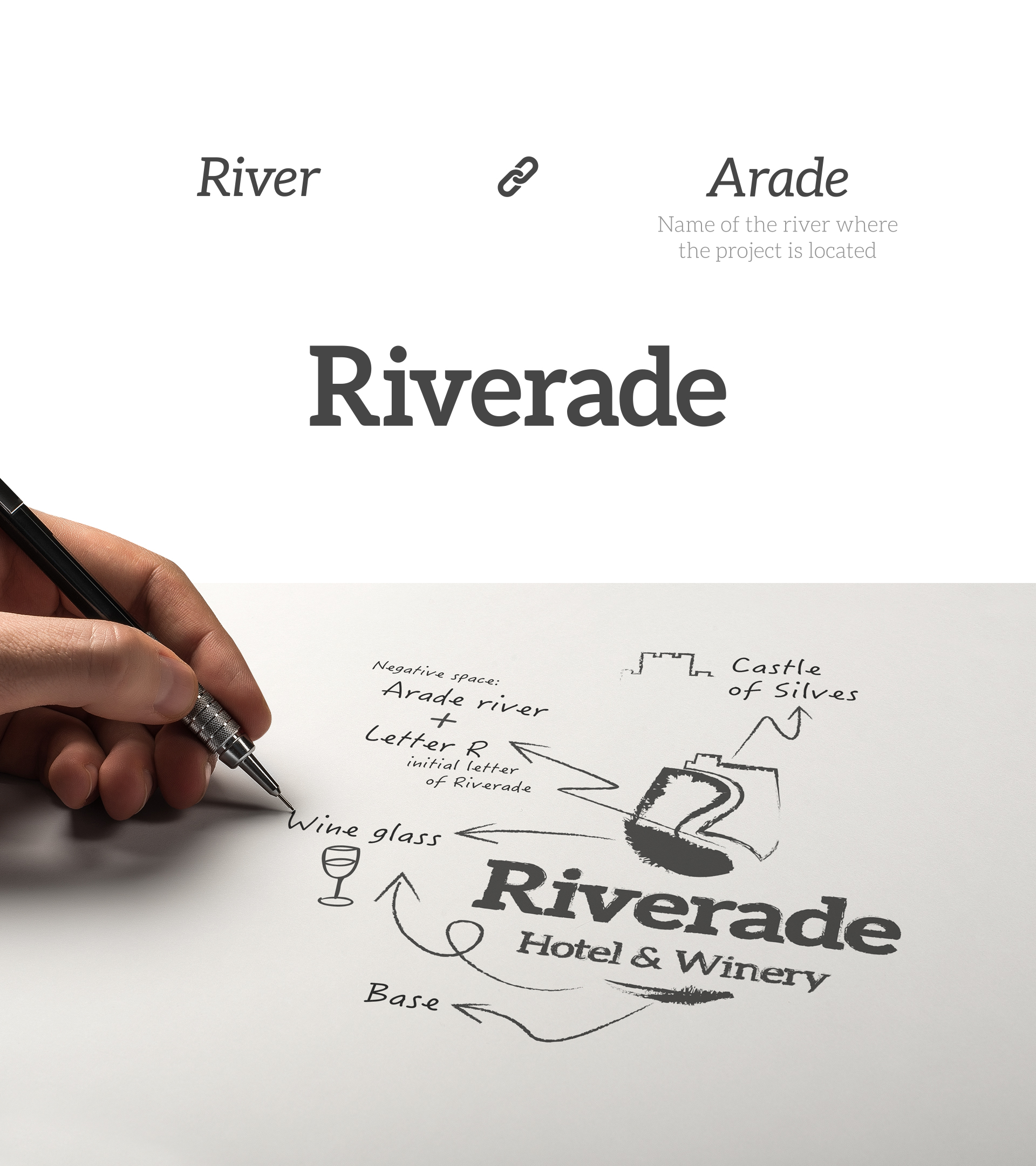Wellness Brand Design concept for Riverade Hotel and Winery