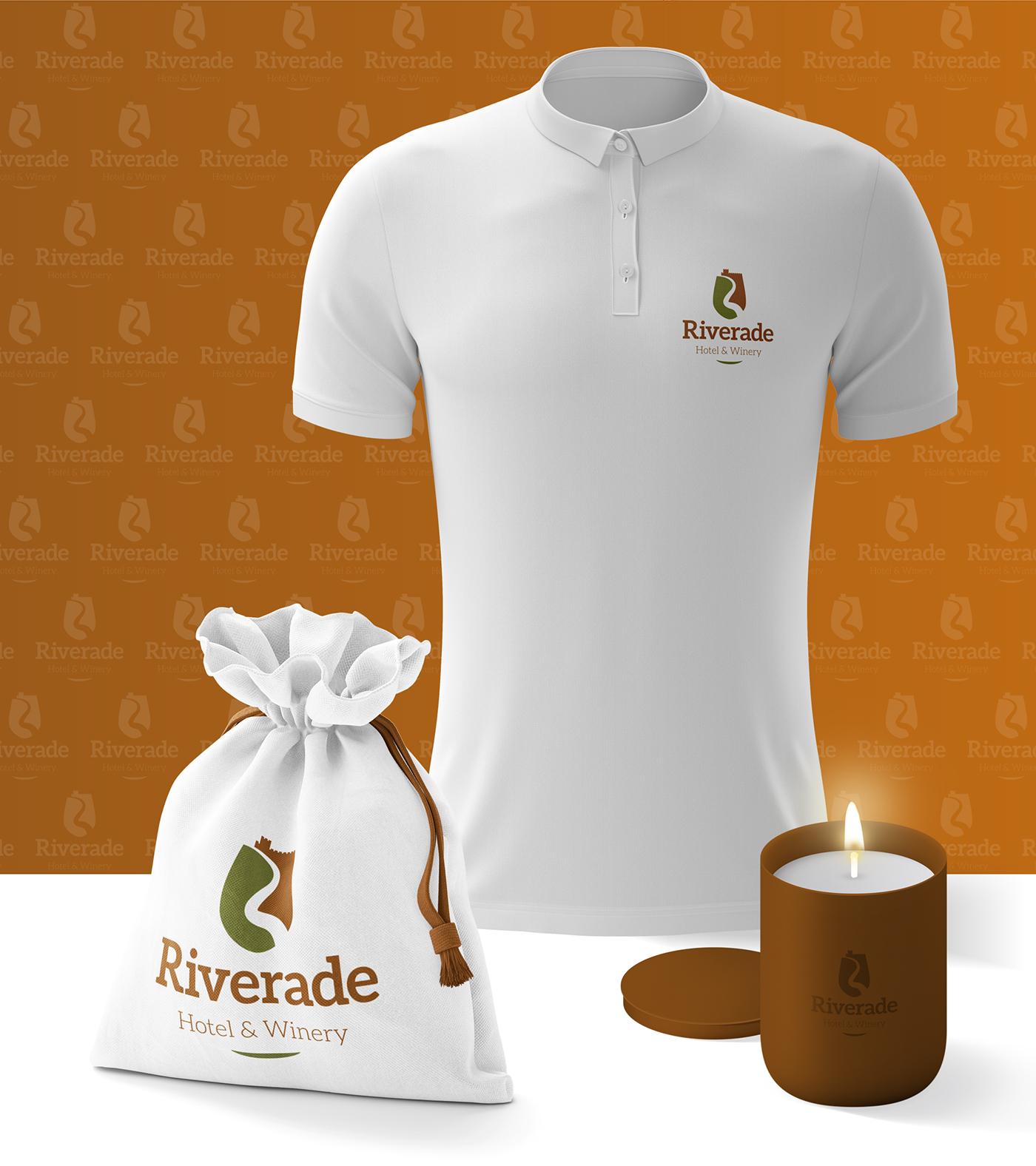 Wellness Brand Design elements with Riverade's Logo