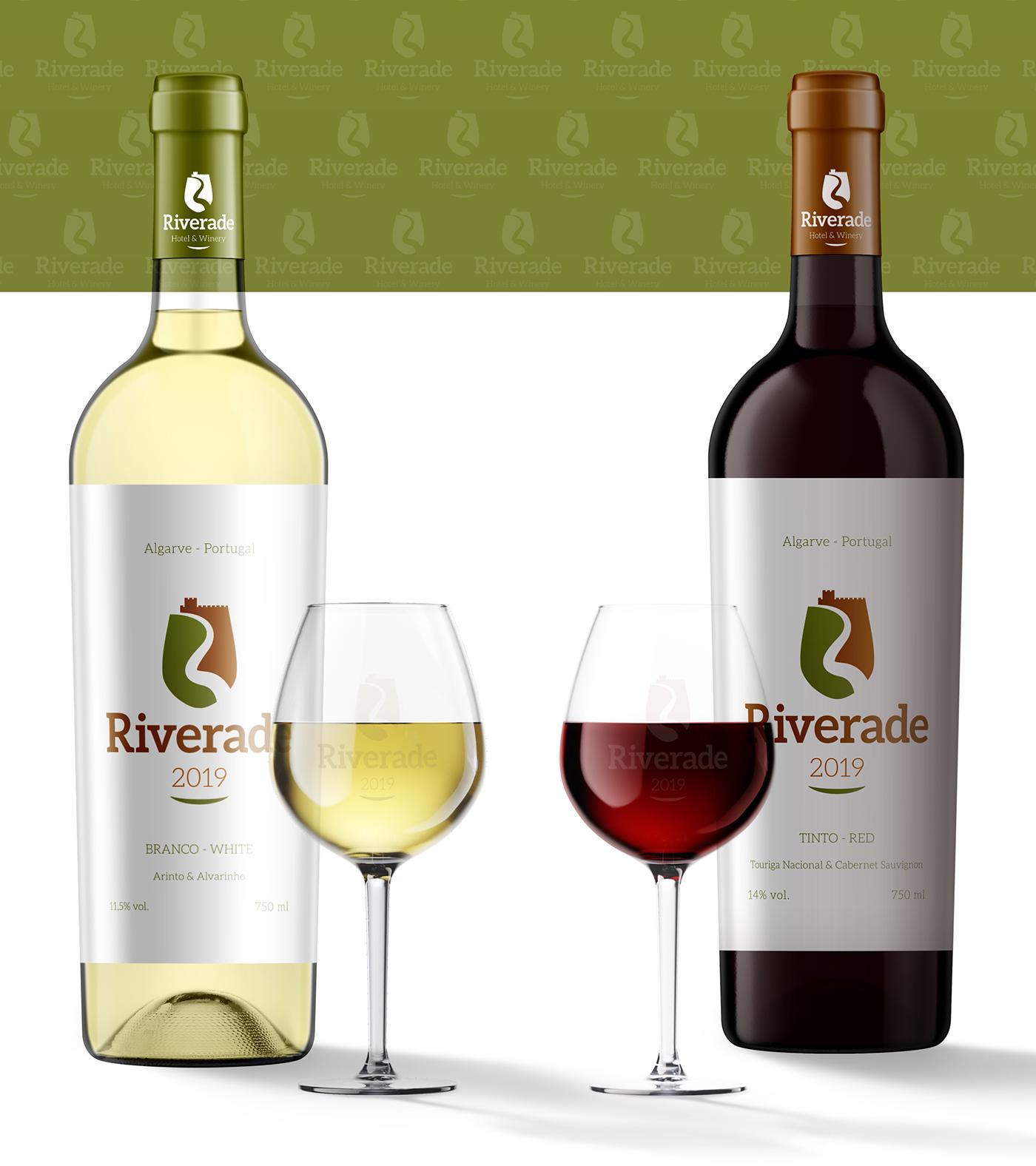 Wine label design for Riverade Hotel & Winery