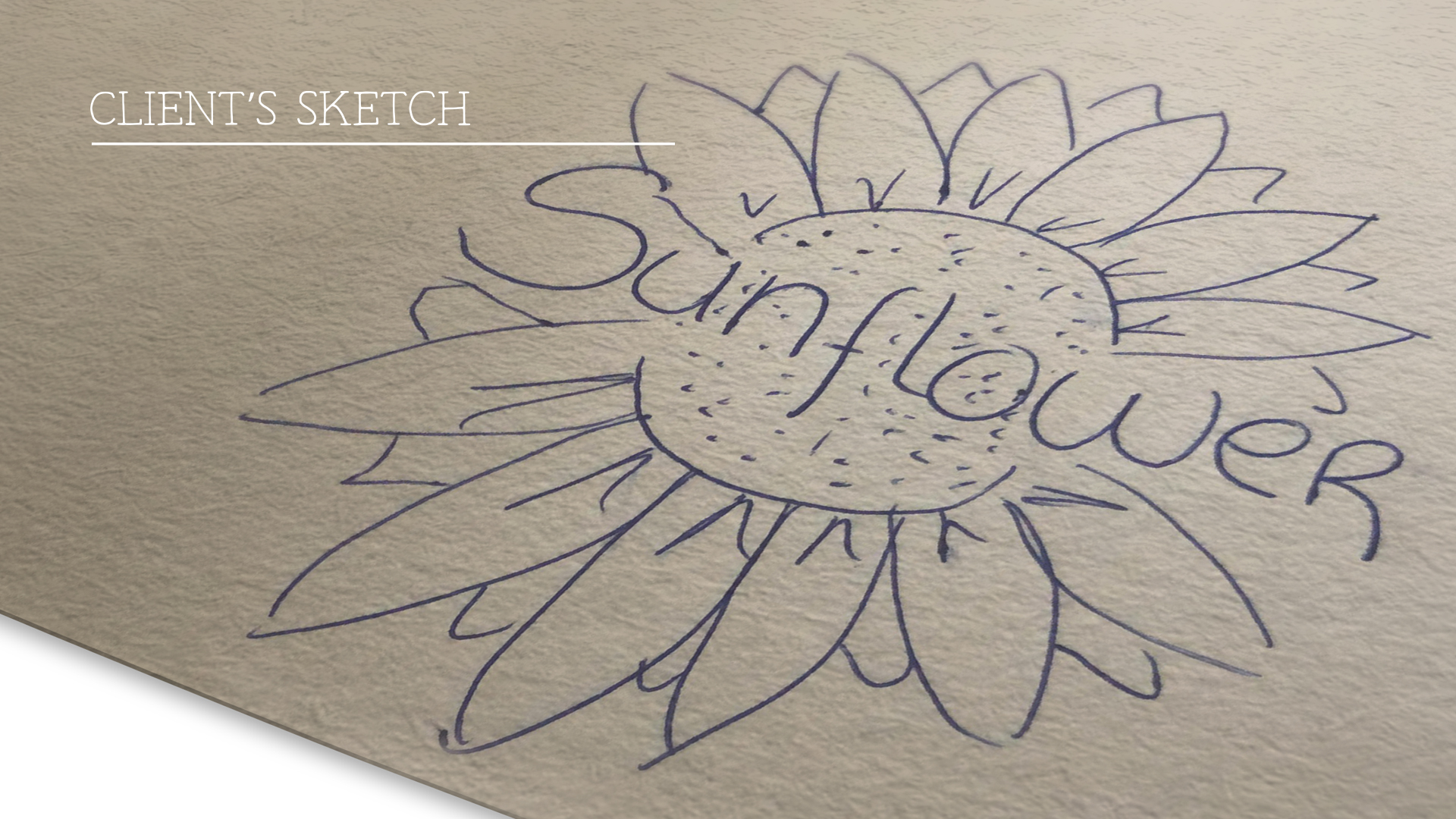 Client's sketch for a logo design project