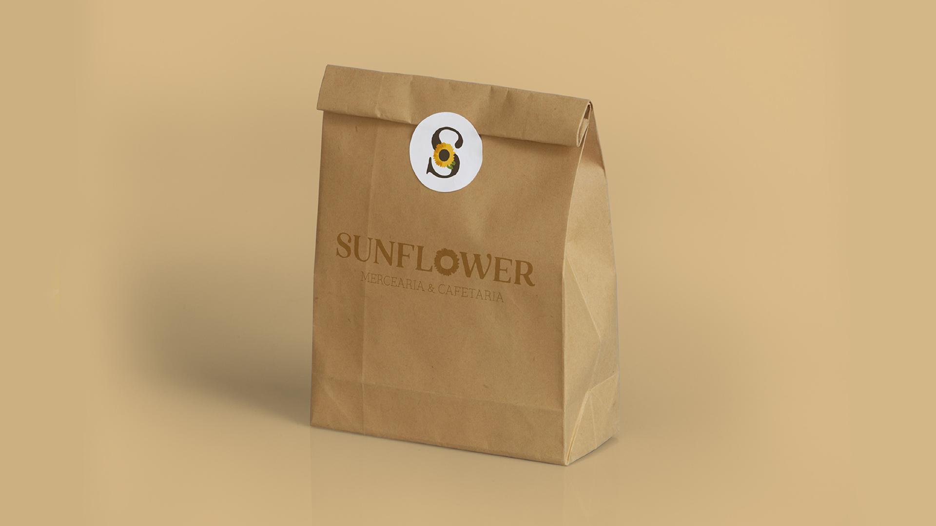 Wellness Brand Design paper bag for SUNFLOWER grocery store