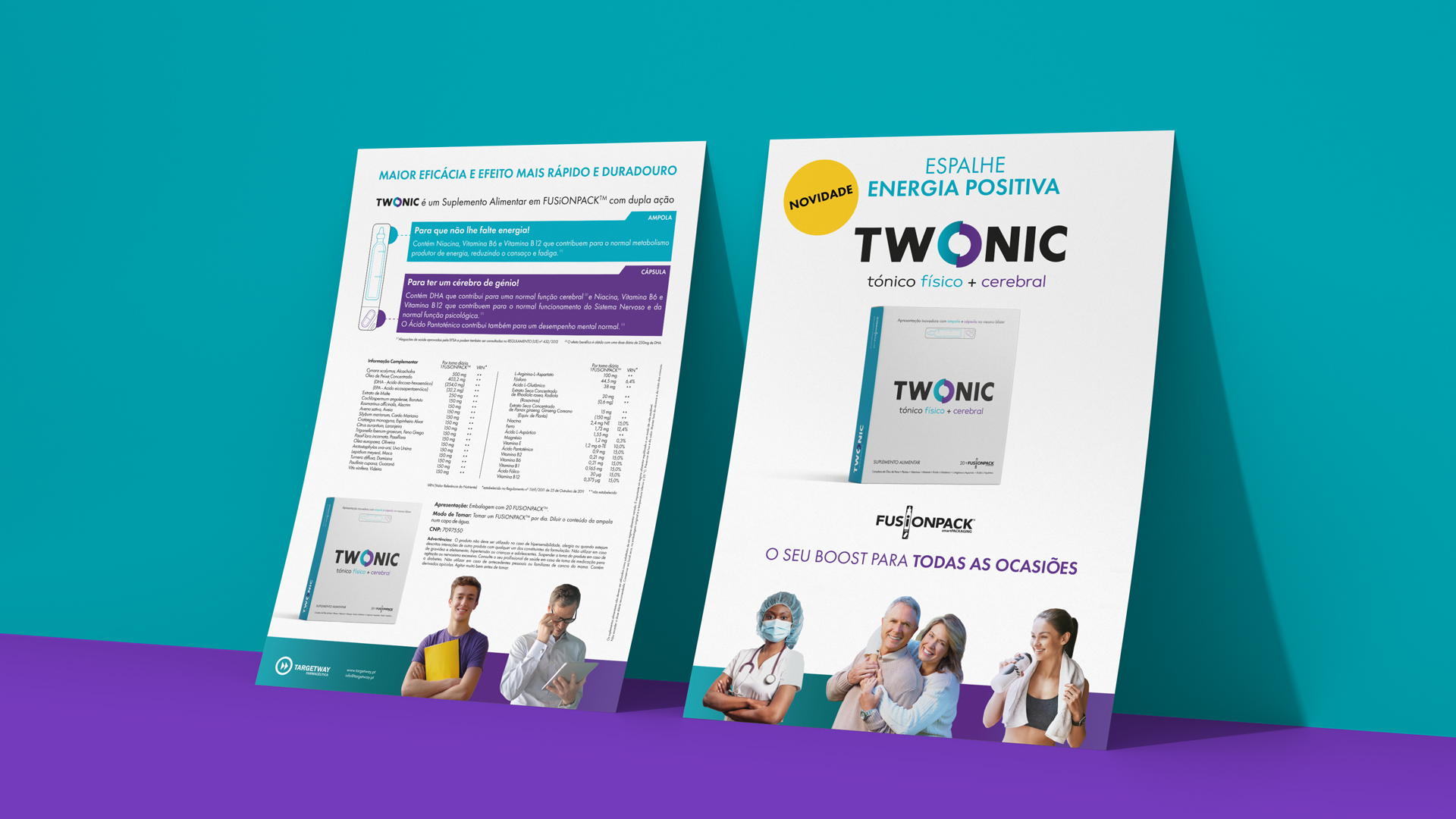 Wellness Brand Design brochure for TWONIC, a physical + brain tonic