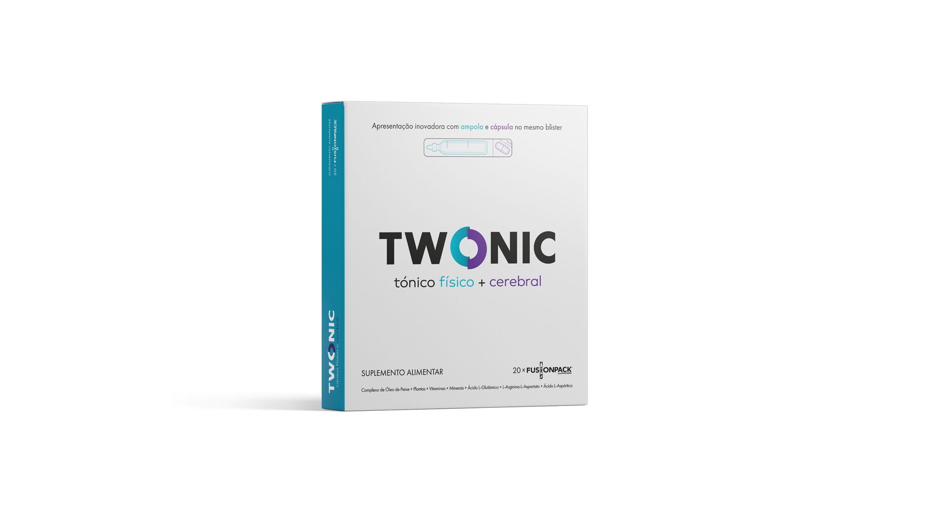 Wellness Brand Design packaging for TWONIC, a physical + brain tonic