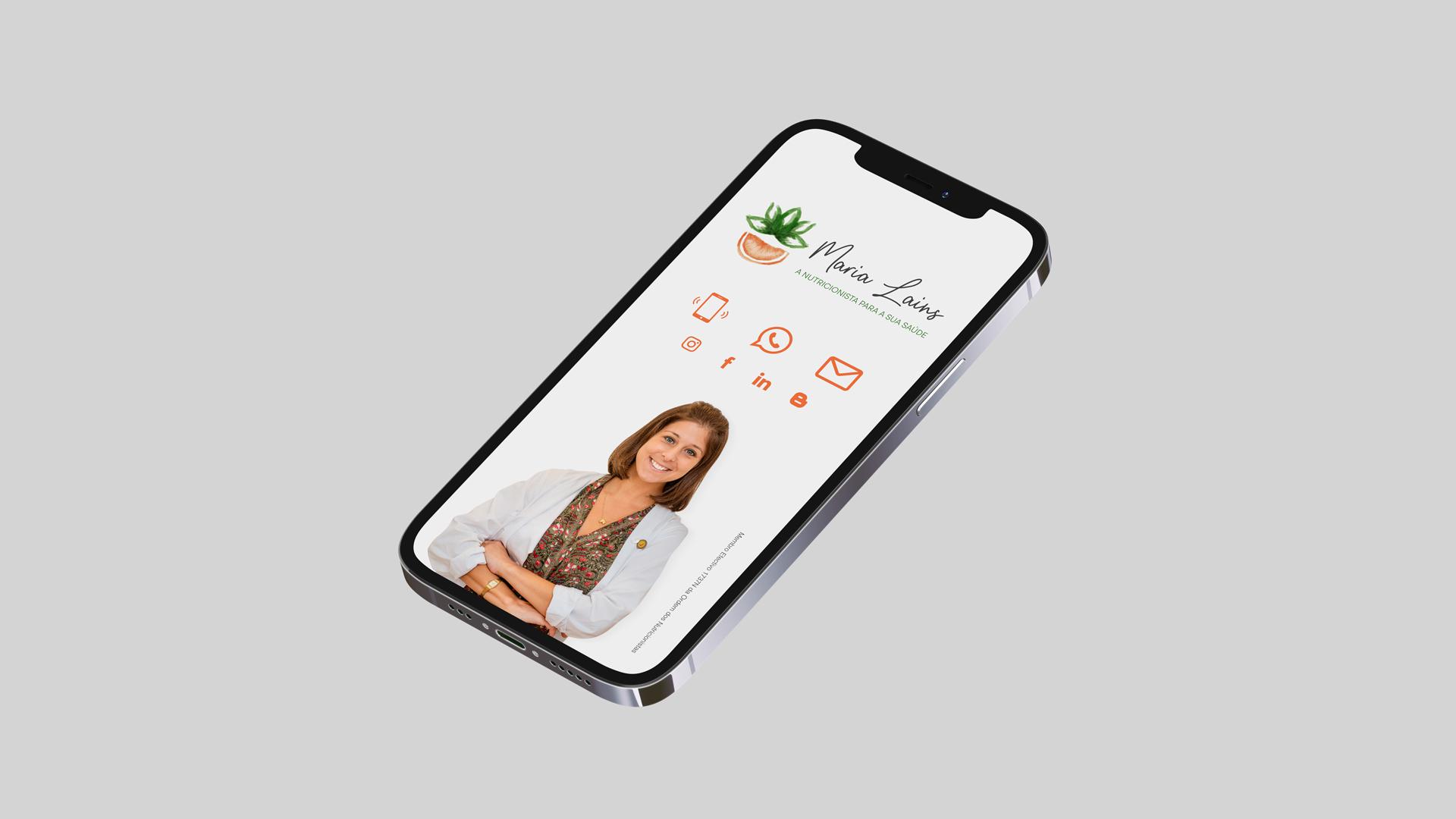 Wellness Brand Design - Digital Business Card for Nutritionist