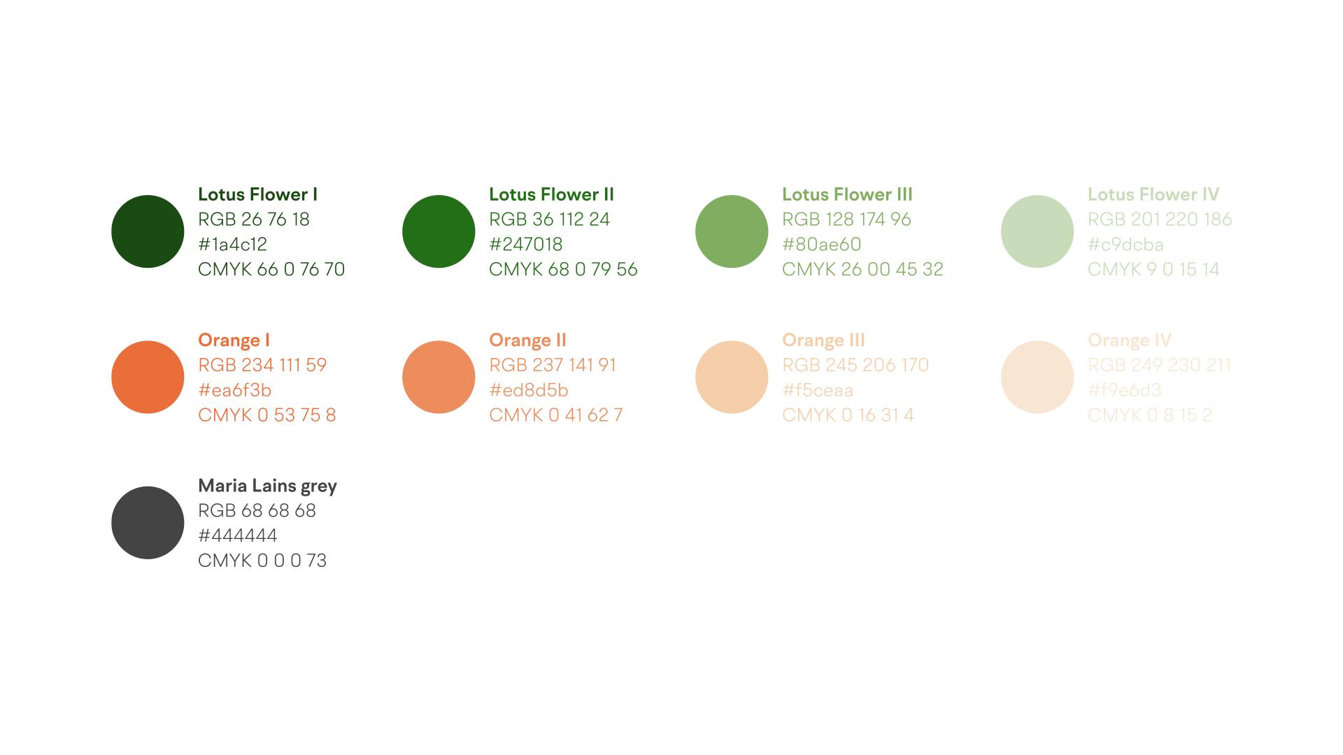 Wellness Brand Design - Color Palette