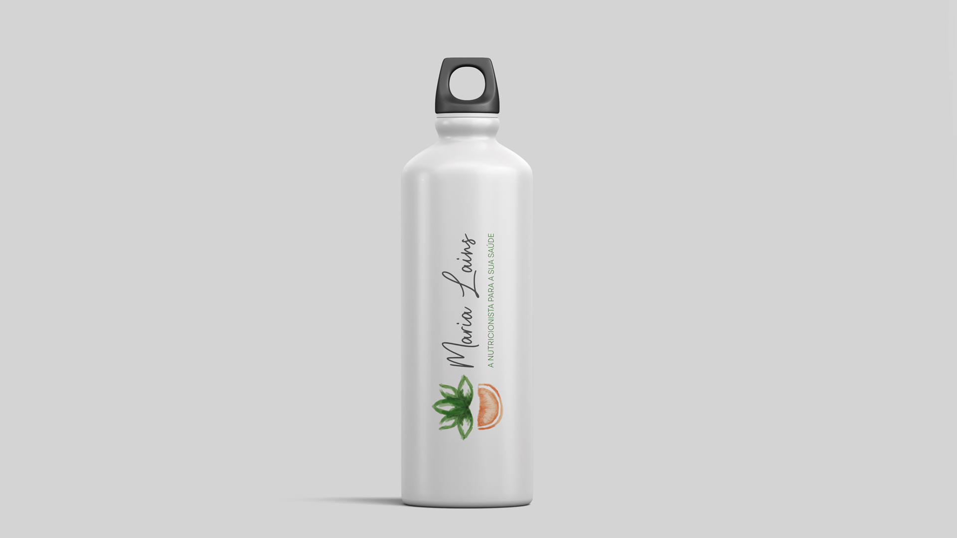 Wellness Brand Design - Water bottle with nutritionist logo