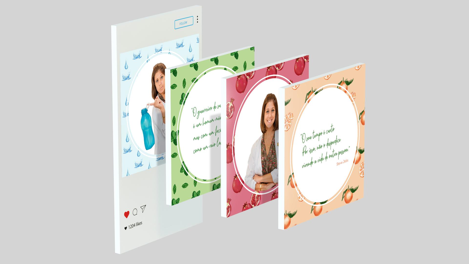 Wellness Brand Design - Nutritionist Identity in Social Media posts