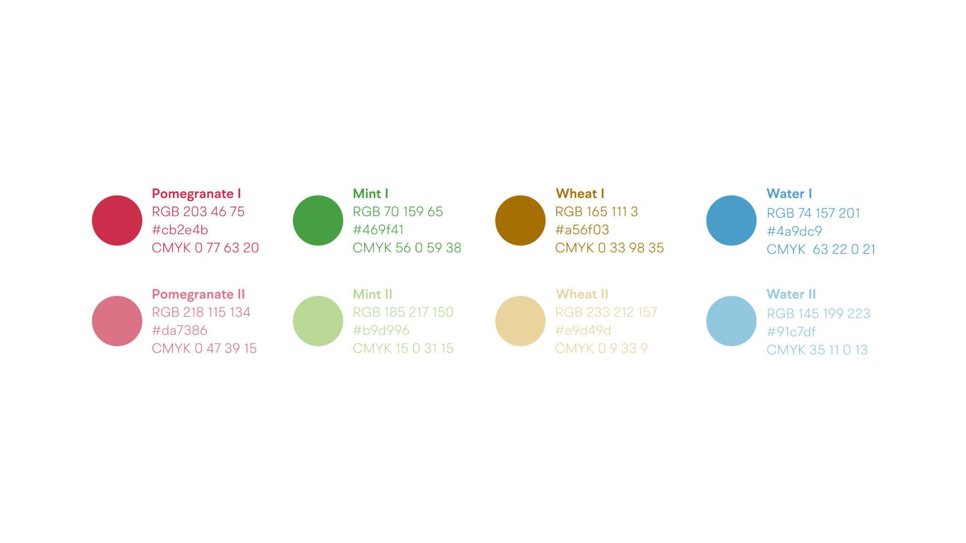 Wellness Brand Design - secondary color palette