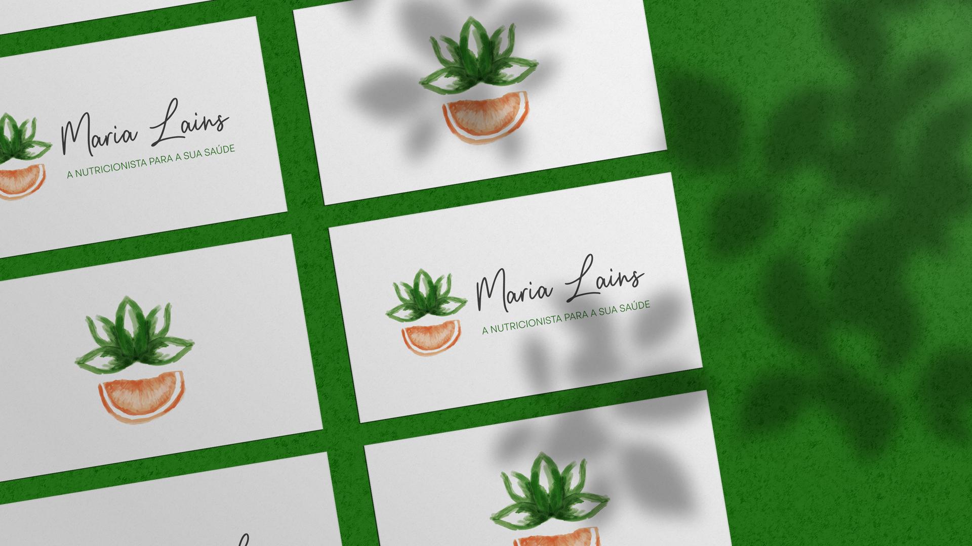Wellness Brand Design - Nutritionist Business Cards
